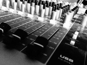 Recording Studio MIxer Board